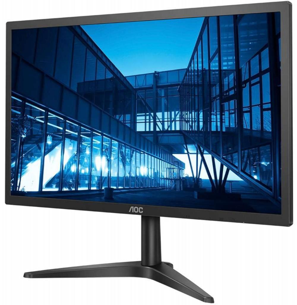 """Monitor LED de 21.5"""" AOC 22B1H Full HD com HDMI/D-Sub Bivolt - Preto"""