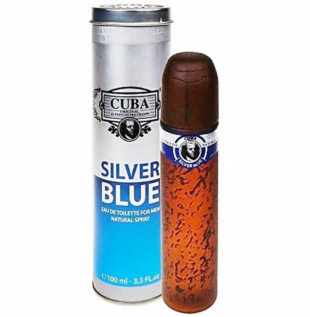 Perfume Cuba Silver Blue Eau de Toilette Masculino 100ml