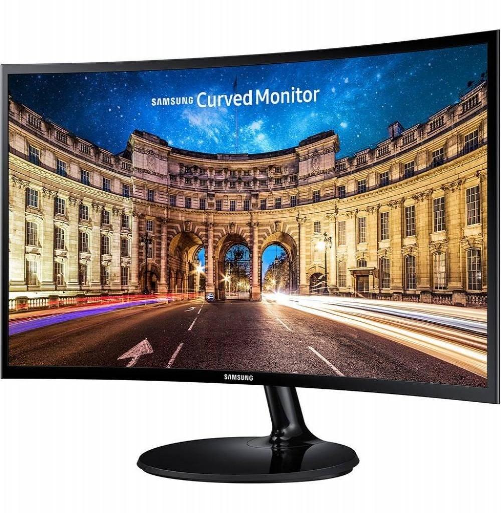 """Monitor Samsung C24F390FHL 24"""" Curvo Preto"""