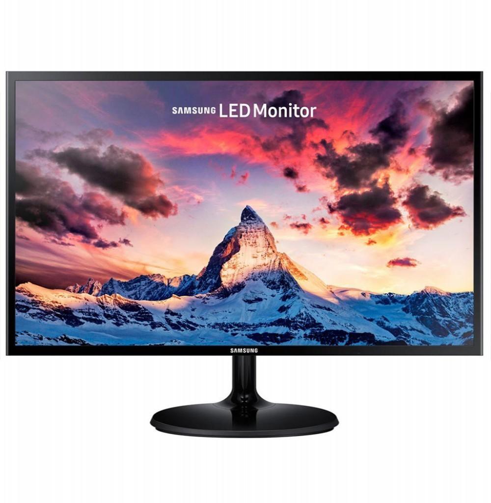 "Monitor Slim Samsung LS24F350FHLXZX 24"" LED HDMI Preto"