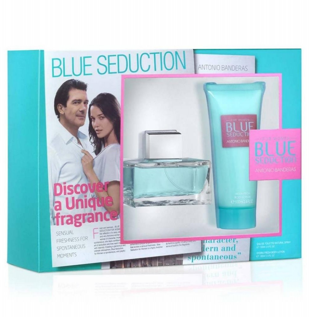 Kit Perfume Antonio Banderas Blue Seduction EDT Feminino 100ML + Creme Corporal