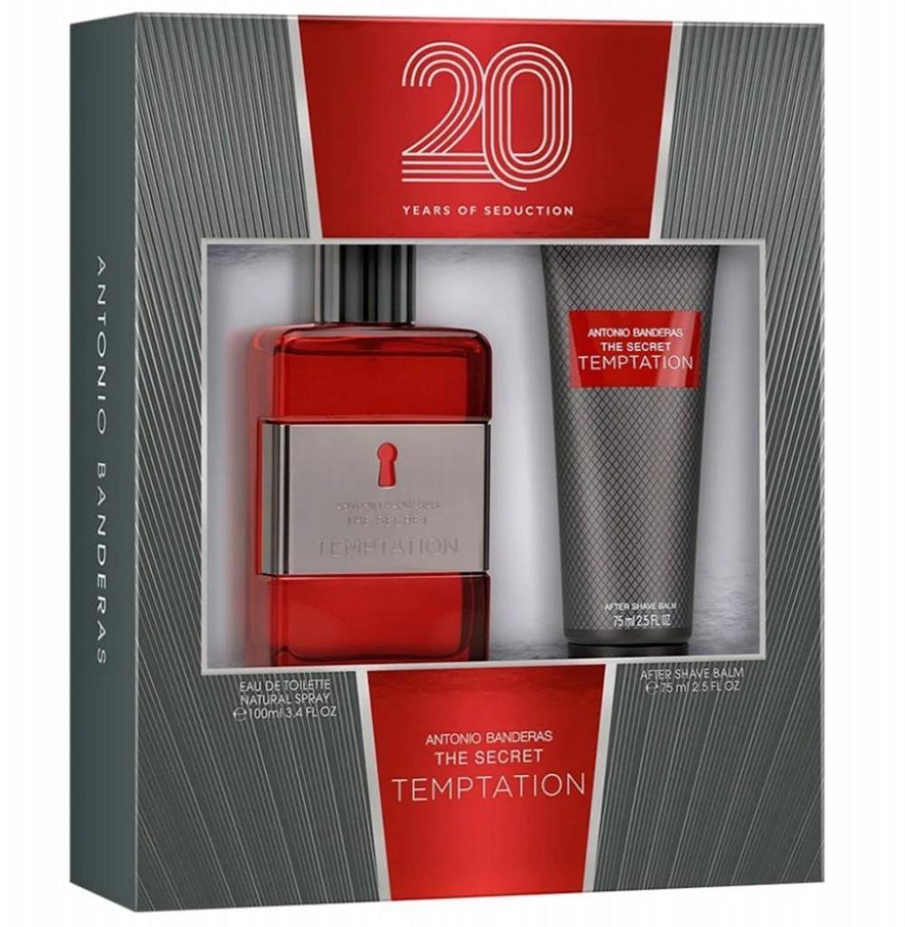 Kit Perfume Antonio Banderas The Secret Temptation EDT Masculino 100ML + Loção Pos Barba