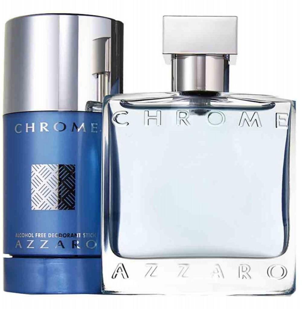 Kit Perfume Azzaro Chrome EDT Masculino 50ML + Desodorante Bastão 75G