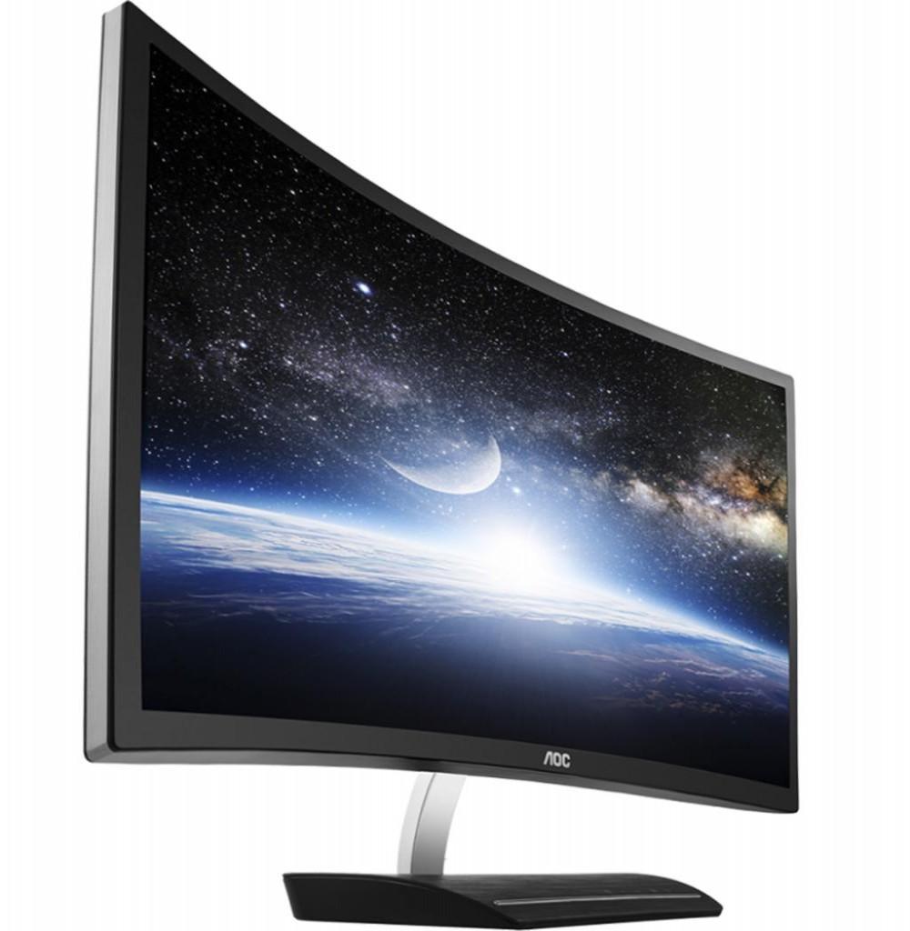 """Monitor Curvo de 27"""" AOC C2783FQ CURVE FHD HDMI VGA DVI DP"""