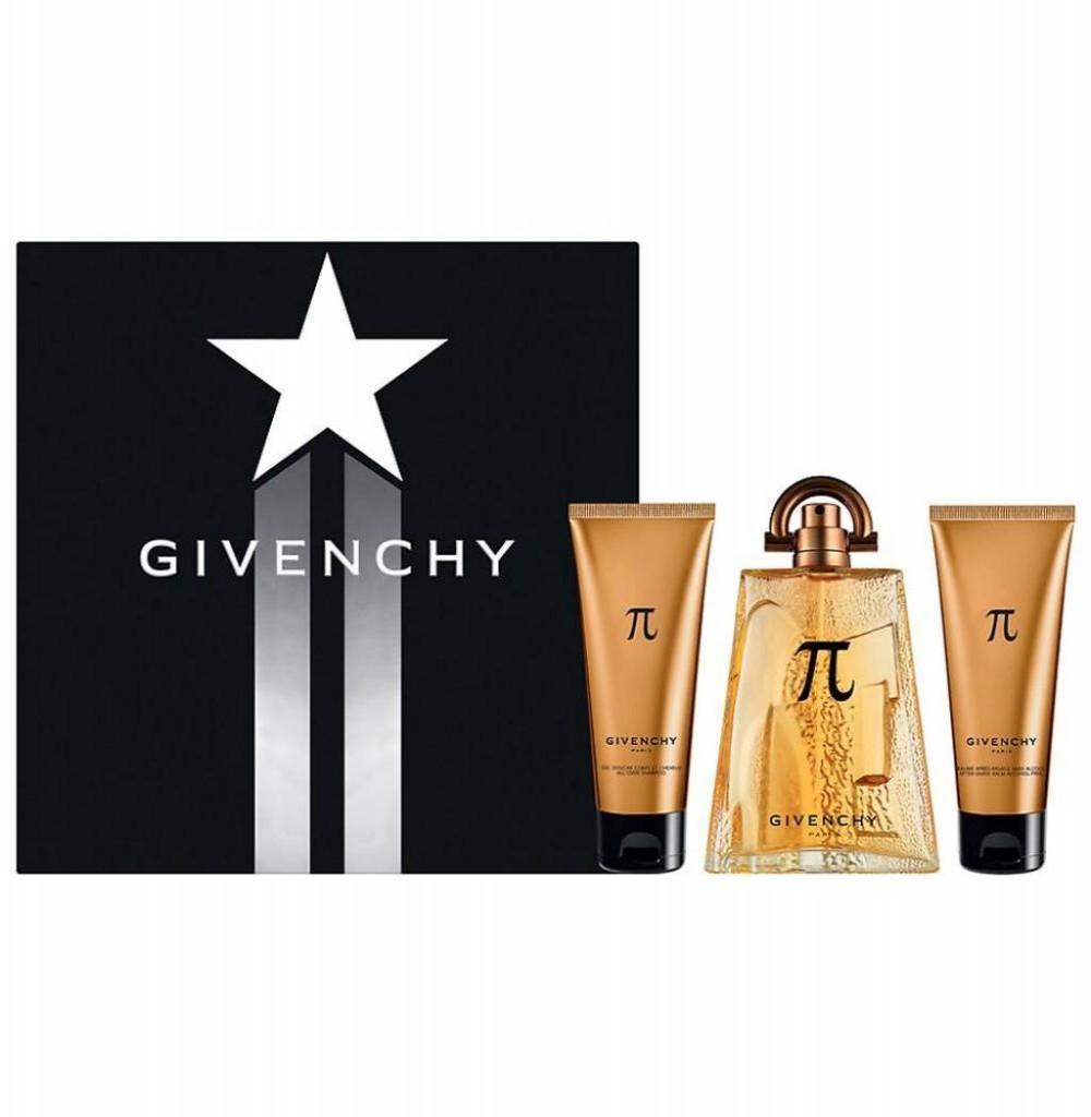 Kit Perfume Givenchy Pi Eau de Toilette Masculino 100ML + Gel de Banho + Loção Pos Barba