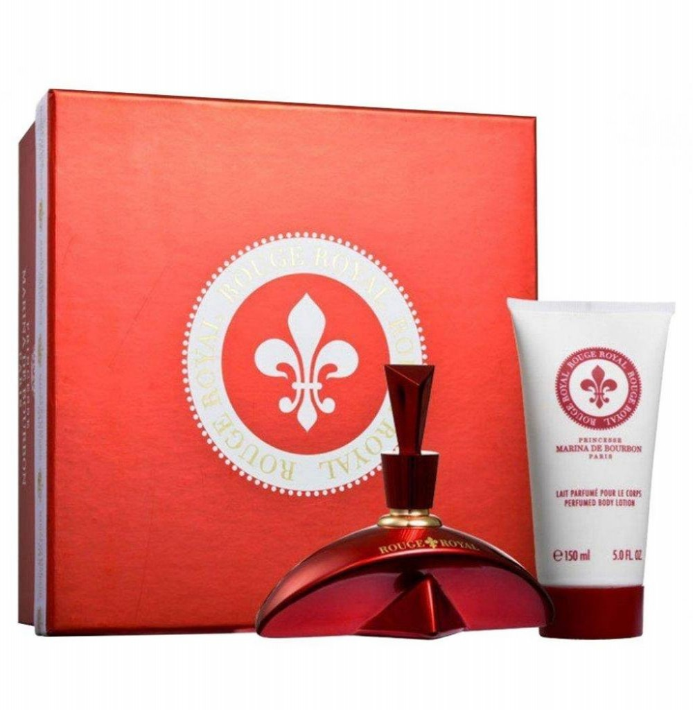 Kit Perfume Princesse Marina de Bourbon Rouge Royal EDP 100ML + Creme Corporal + Necessaire