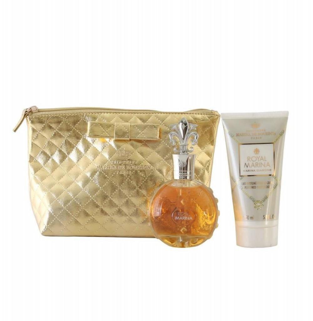 Kit Perfume Princesse Marina de Bourbon Royal Marina Diamond EDP Feminino 100ML + Loção Corporal + Necessaire