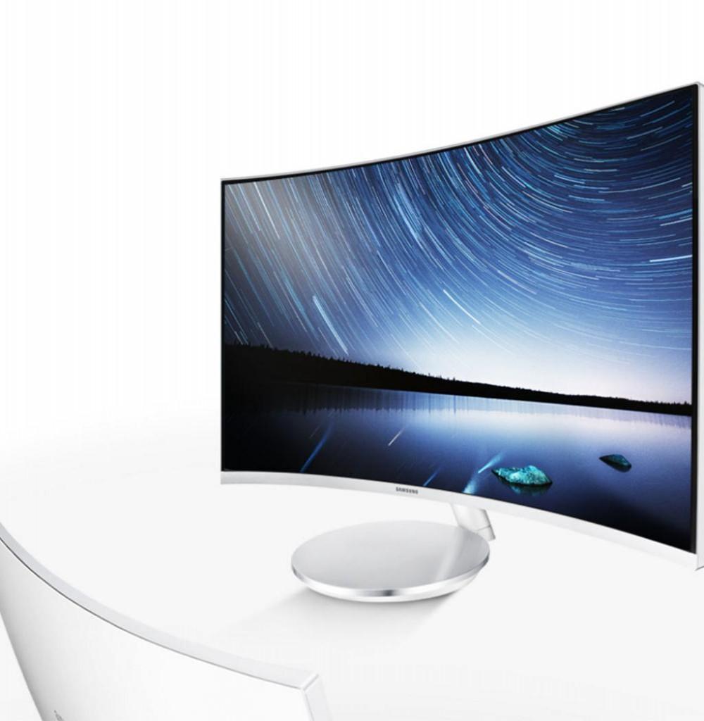 "Monitor Samsung C27F591FDL 27"" Curvo  Full HD com HDMI/DisplayPort/VGA Bivolt-Branco"