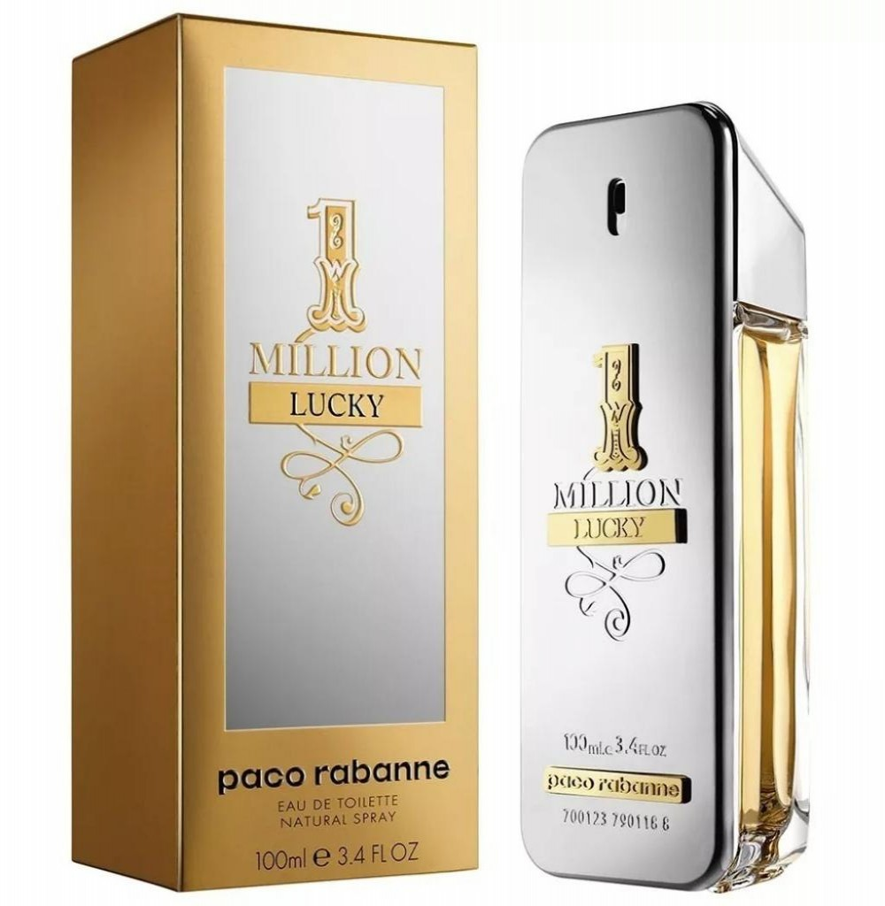Perfume Paco Rabanne 1 Million Lucky Eau de Toilette Masculino 100ML*