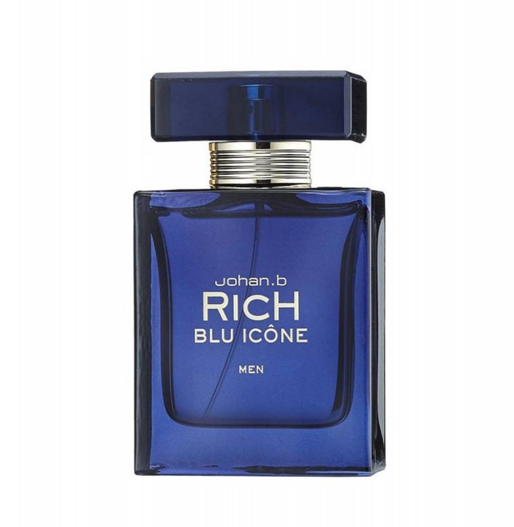 Perfume Johan.B Rich Blu Icone Men Eau de Toilette Masculino 90ML