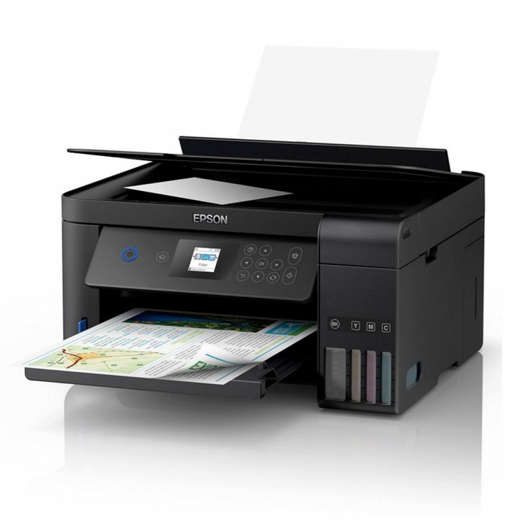 Impressora Multifuncional Epson EcoTank L4160 Inkjet 3 em 1 com Wi-Fi Bivolt - Preto