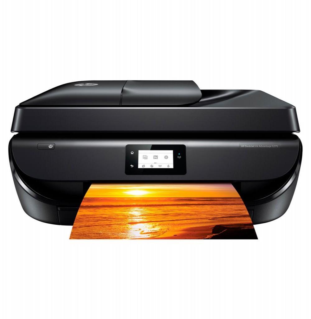Impressora HP DeskJet 5275 4 em 1 com Wi-Fi/Bluetooth Bivolt - Preta