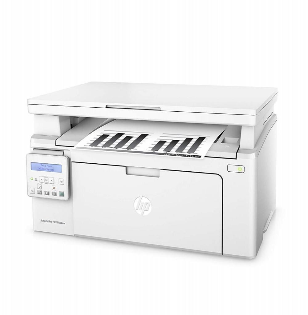 Impressora Multifuncional HP Pro MFP M130nw Laserjet 3 em 1 com Wi-Fi 110V - Branca