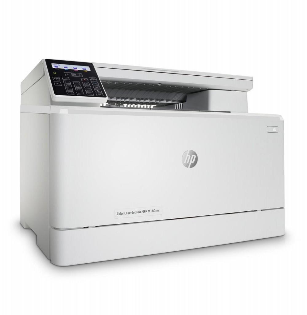 Impressora HP Color LaserJet Pro MFP M180nw Multifuncional WiFi 220v Branco