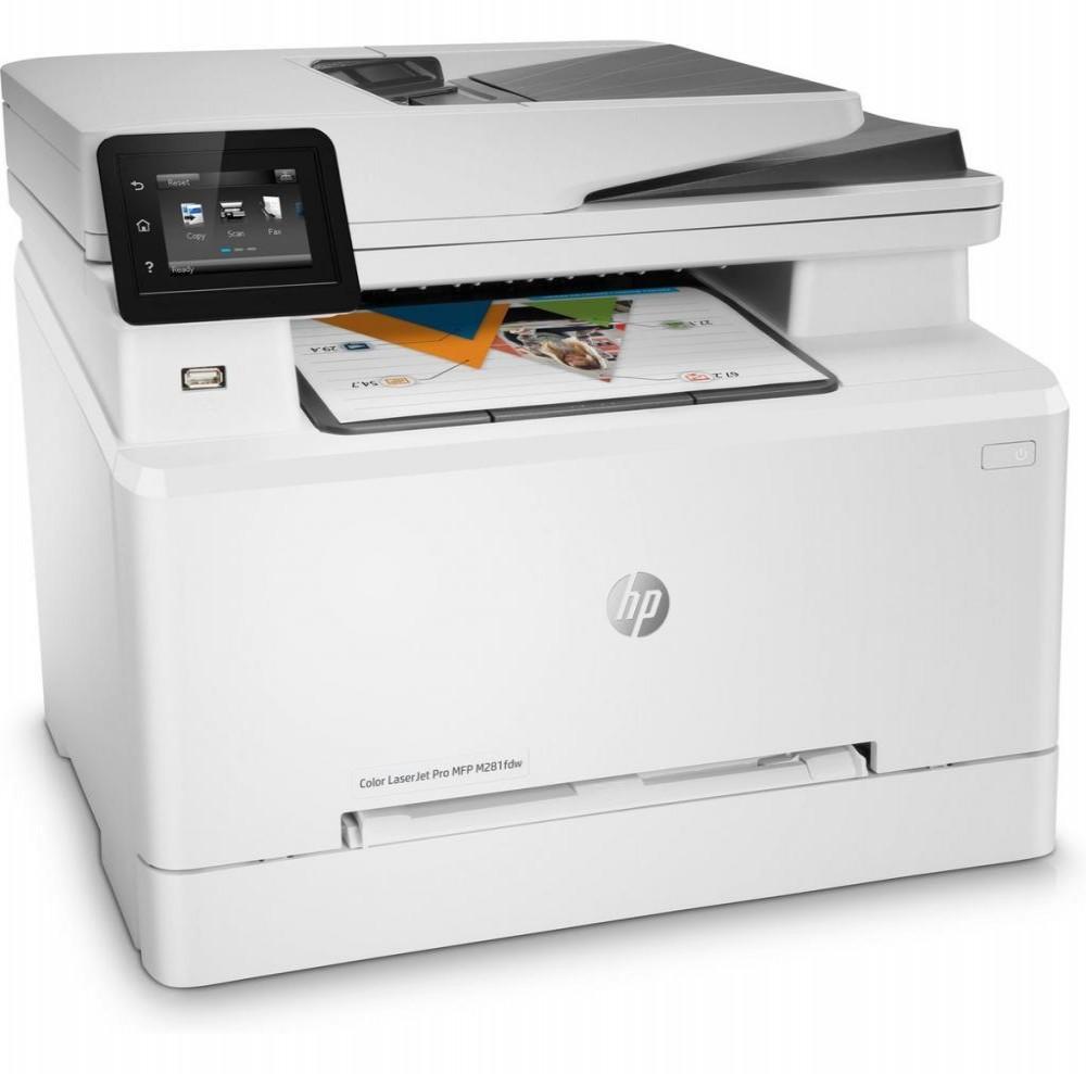 Impressora HP Multifuncional Pro MFP M281fdw Color Laserjet 4 em 1 com Wi-Fi 220V - Branca