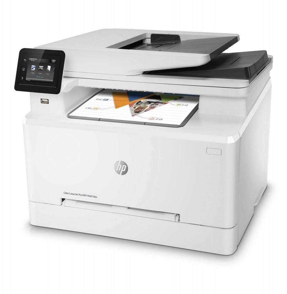 Impressora Multifuncional HP Pro MFP M281fdw Color Laserjet 4 em 1 com Wi-Fi 110V - Branca