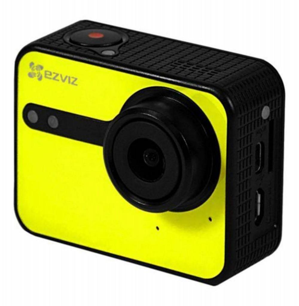 Câmera Esportiva S1C Starter Kit Amarelo EZVIZ Action