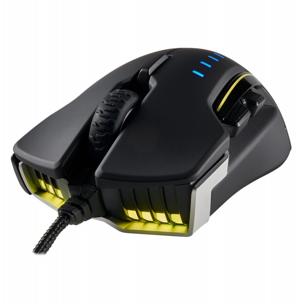 Mouse Gamer Corsair Glaive Optico CH-9302111-NA 16000dpi Rgb Preto