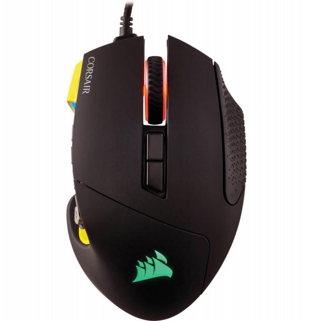 Mouse Gamer Corsair Scimitar Pro Rgb 16.000dpi CH-9304011-NA Preto/Amarelo