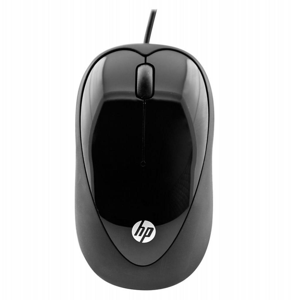 Mouse USB HP X1000 H2C21AA-Abl Preto
