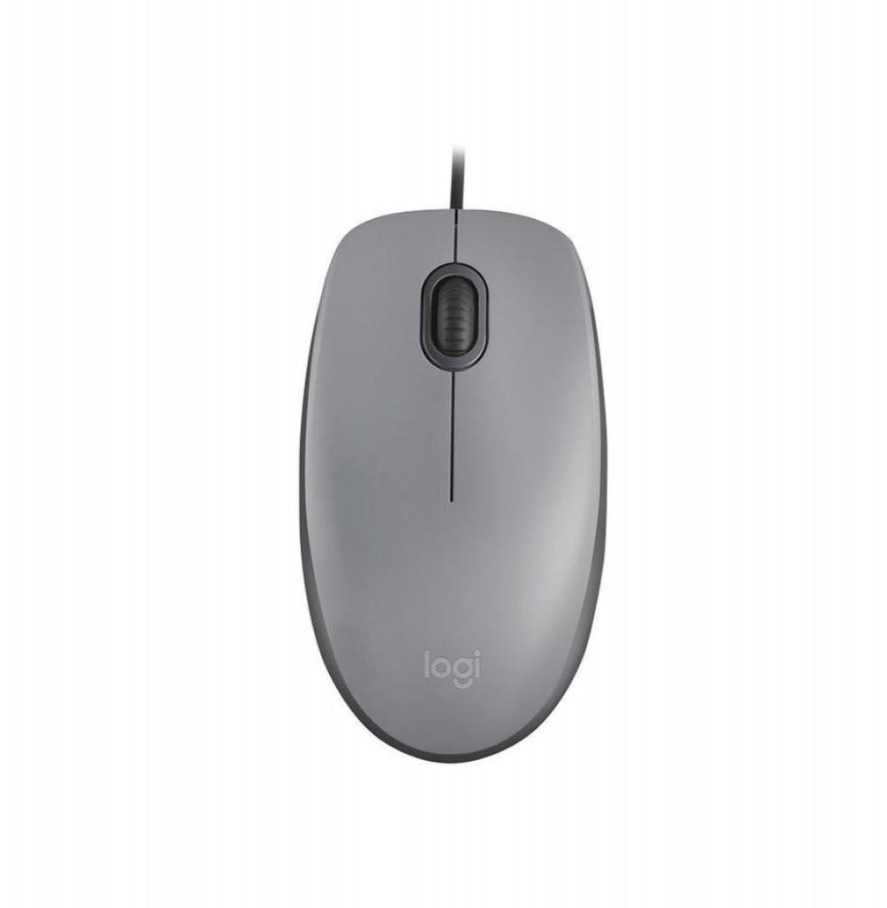 Mouse Logitech com fio M110 910-005494 Cinza