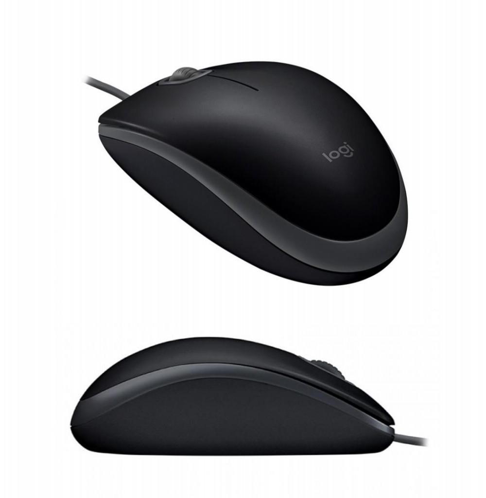 Mouse Logitech com fio M110 910-005493 Preto