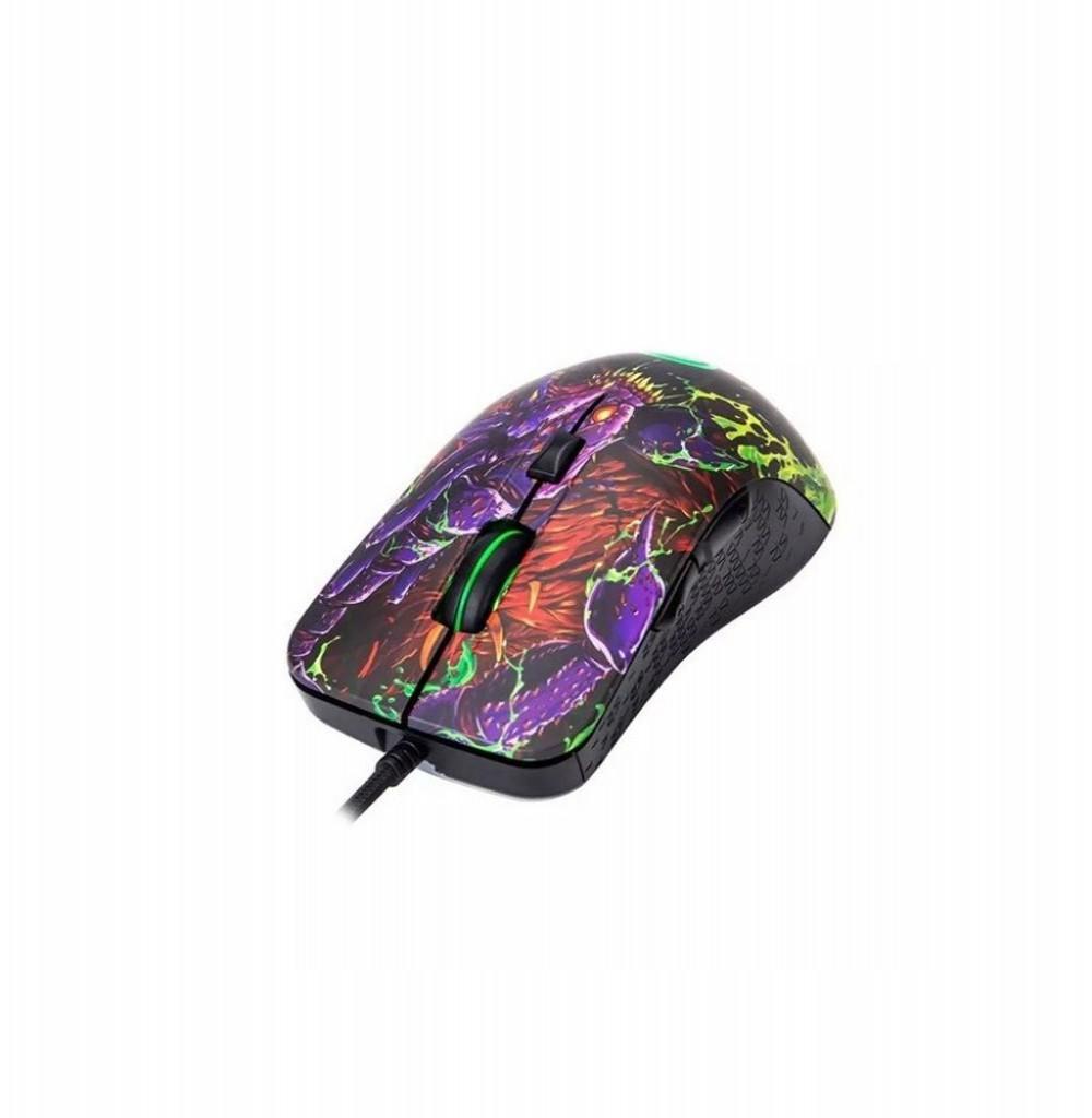 Mouse Gaming Marvo G932 Scorpion com fio + Mouse Pad G20 Preto/Vermelho