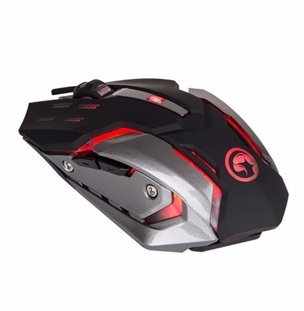 Mouse Gaming Marvo M314 Scorpion com fio USB Preto/Cinza