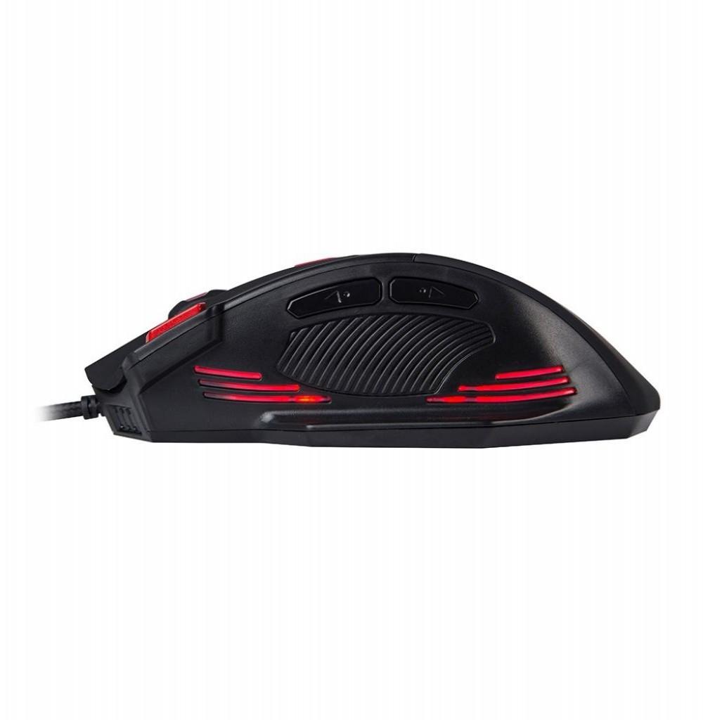 Mouse Gaming Marvo M420 Scorpion com fio USB Preto/Vermelho
