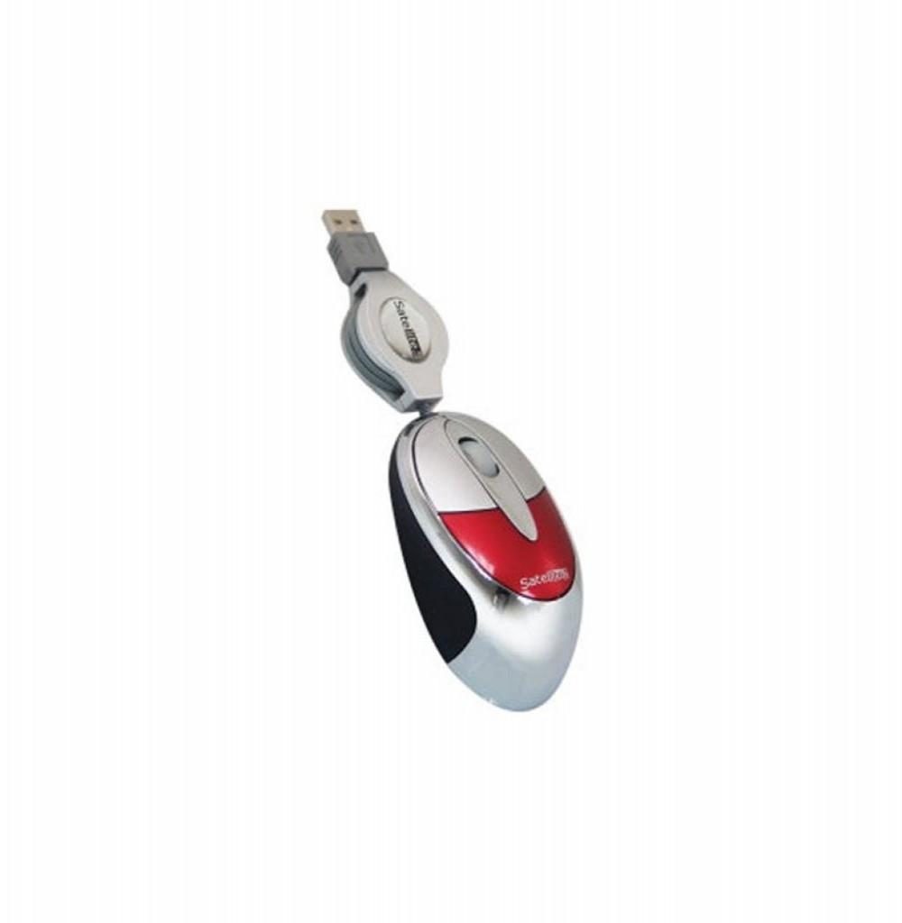 Mouse Ótico Satellite A-13 USB 1.000 CPI - Vermelho/Prata