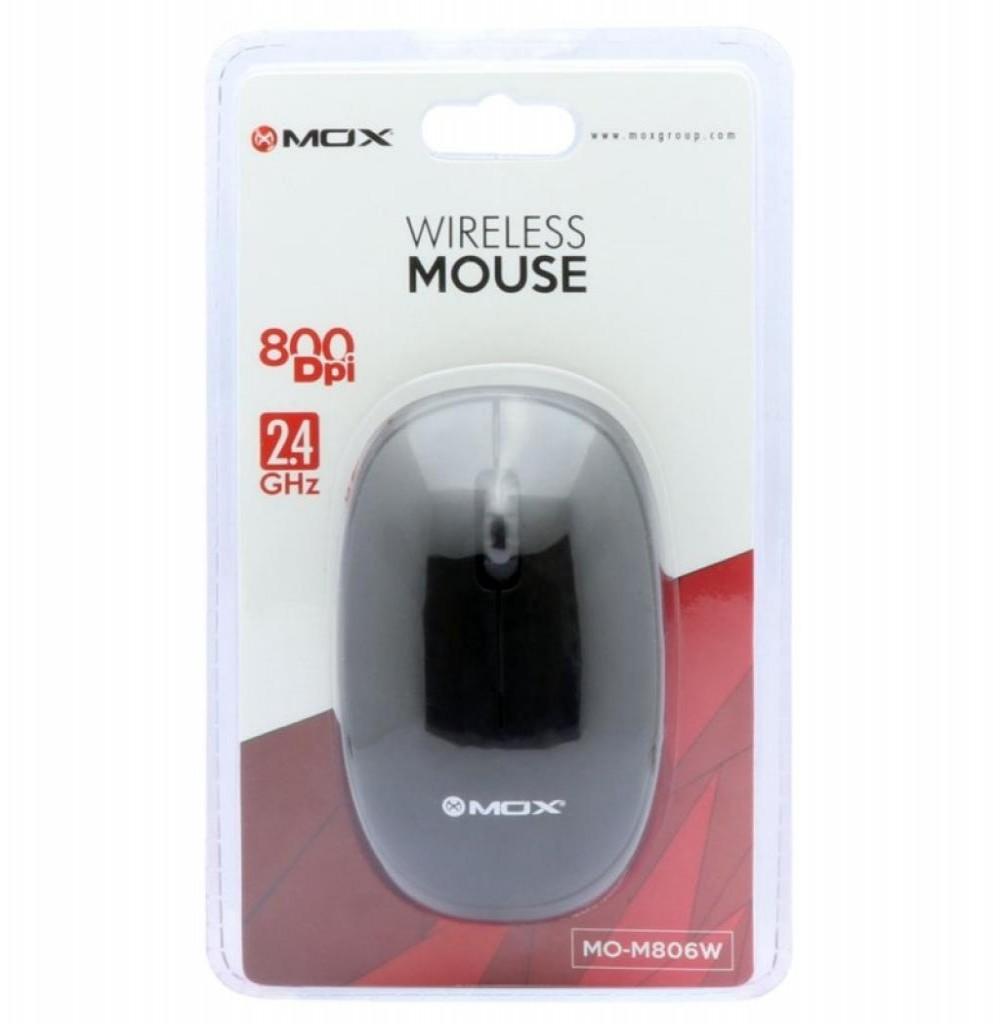 Mouse Óptico Sem Fio MOX MO-M806W USB de 800 DPI - Preto