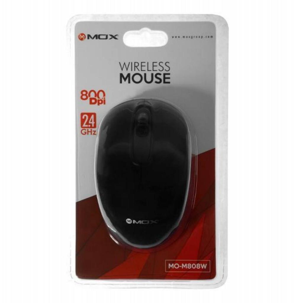 Mouse Óptico Sem Fio MOX MO-M808W USB de 800 DPI - Preto