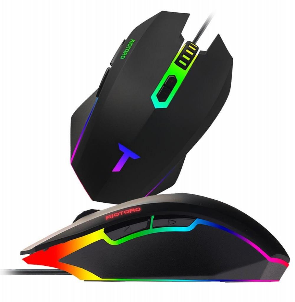 Mouse Gamer Riotoro Uruz Z5 RGB MR-400C 4000DPI