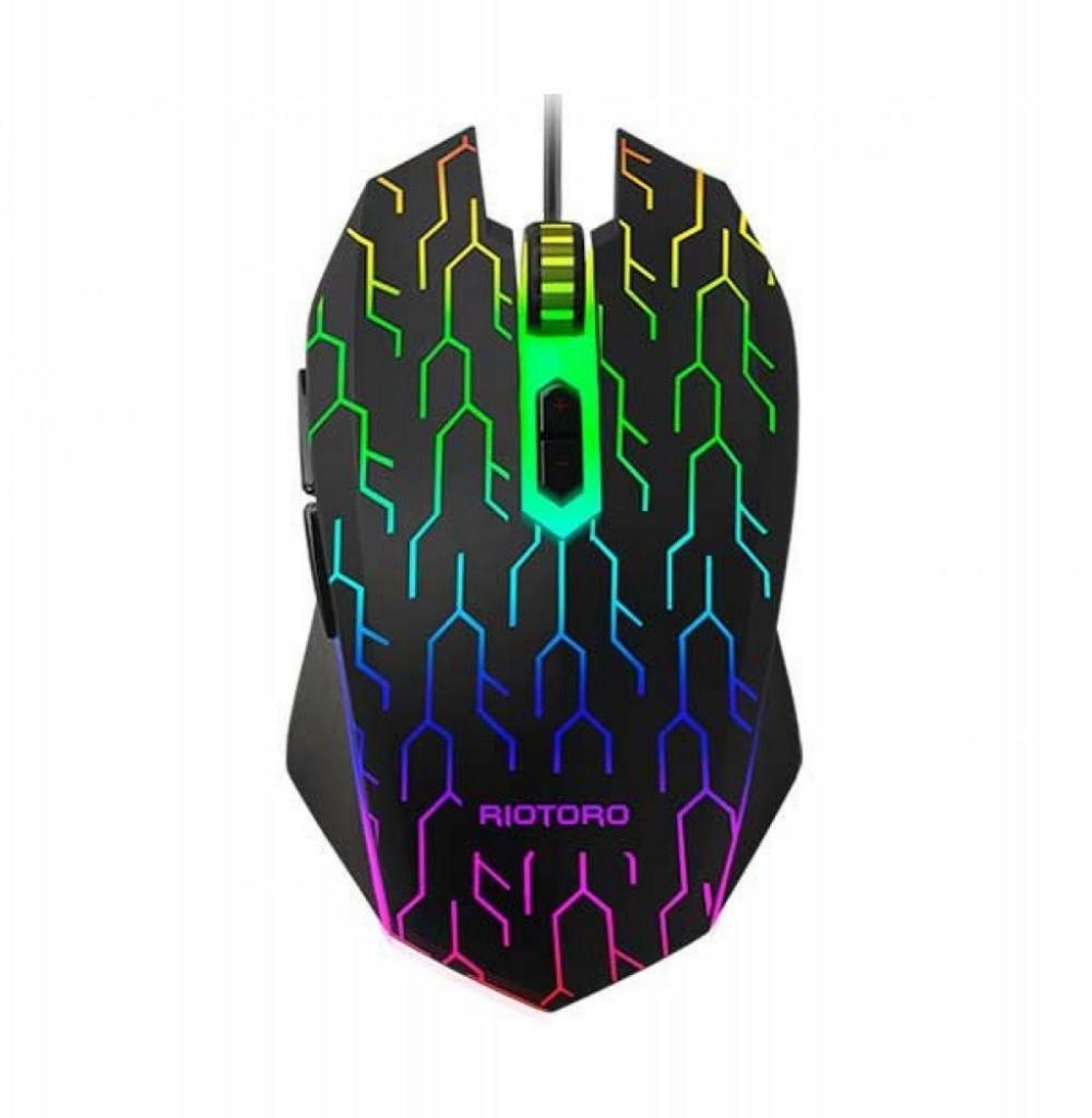 Mouse Gamer Riotoro Uruz Z5 RGB MR-600L 4000DPI - Lightning