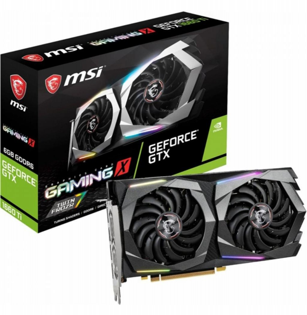 Placa de Vídeo 6GB Exp. GF-GTX1660 MSI Gaming X DDR5