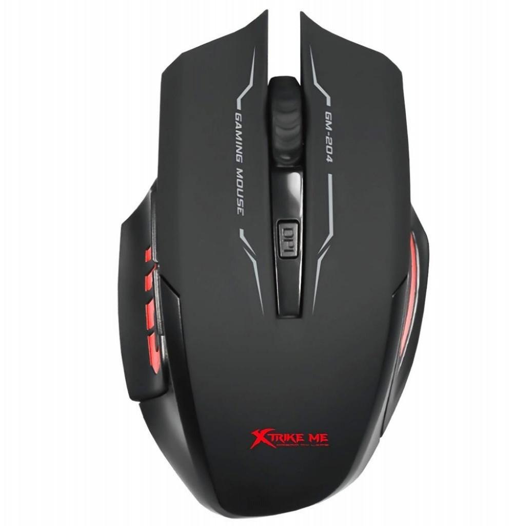 Mouse Gaming Xtrike Me GM-204 com fio 3200DPI USB Preto