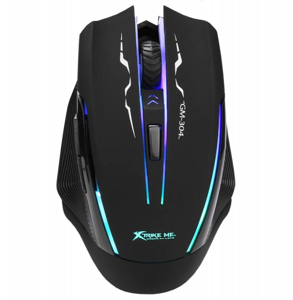 Mouse Xtrike Gamer/Gaming Optical GM-304 Luminoso - Preto
