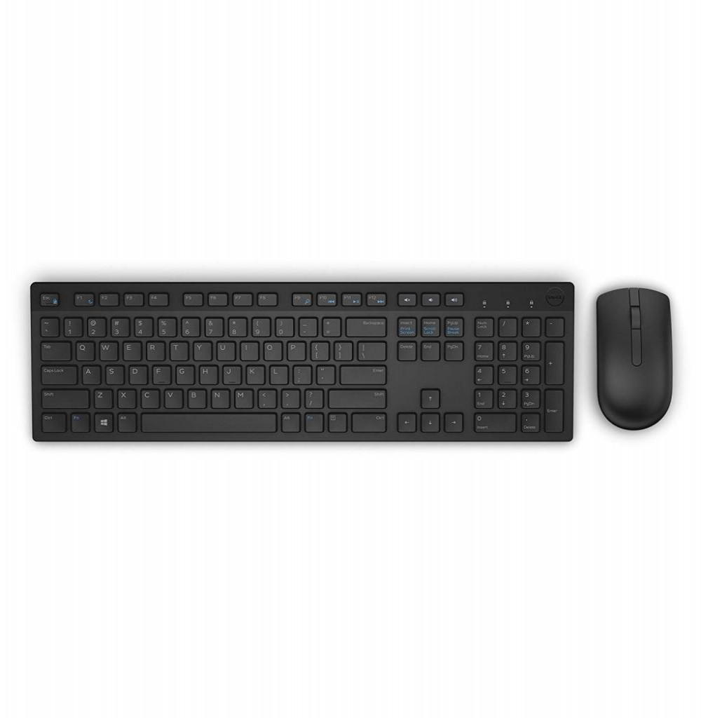 Kit Teclado E Mouse Wireless Dell Km636 Preto