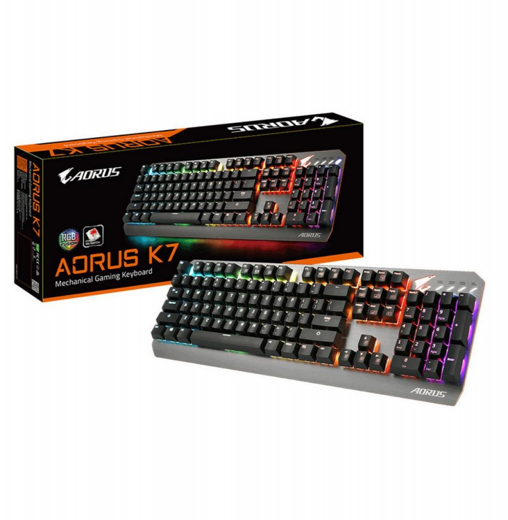 Teclado Gigabyte Aorus K7 Gamer RGB Mechanical