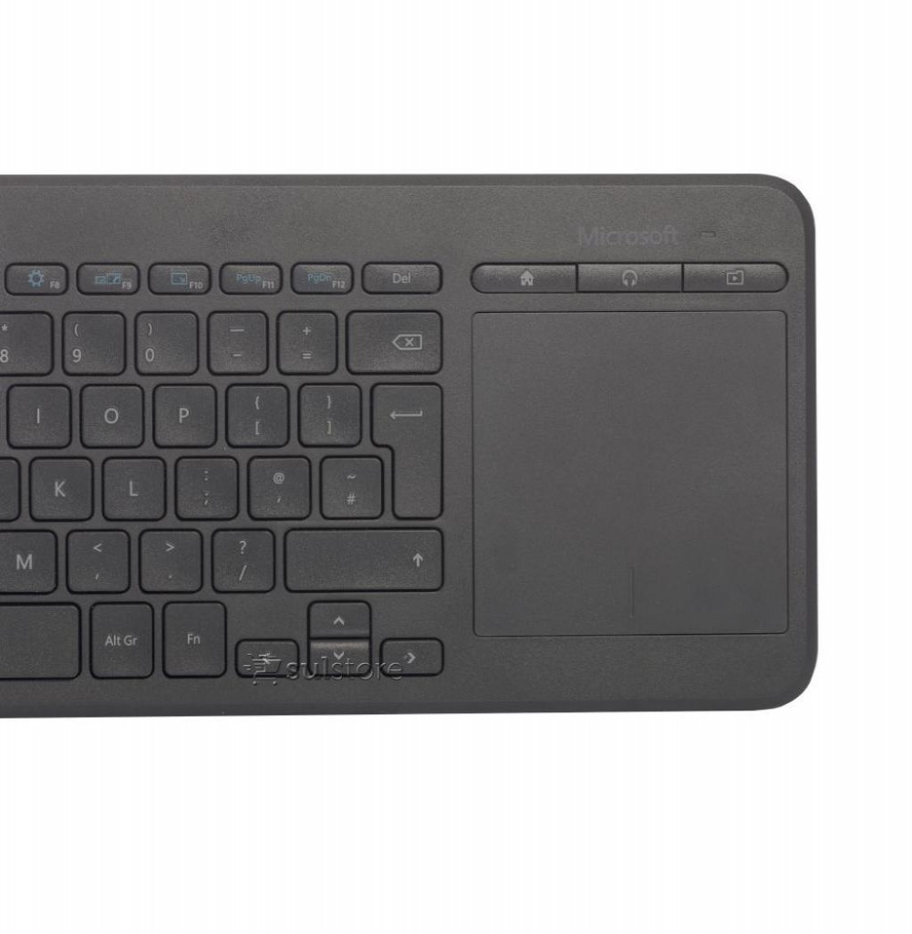 Teclado Sem Fio Microsoft All-In-One Media 1632 USB Português - Preto