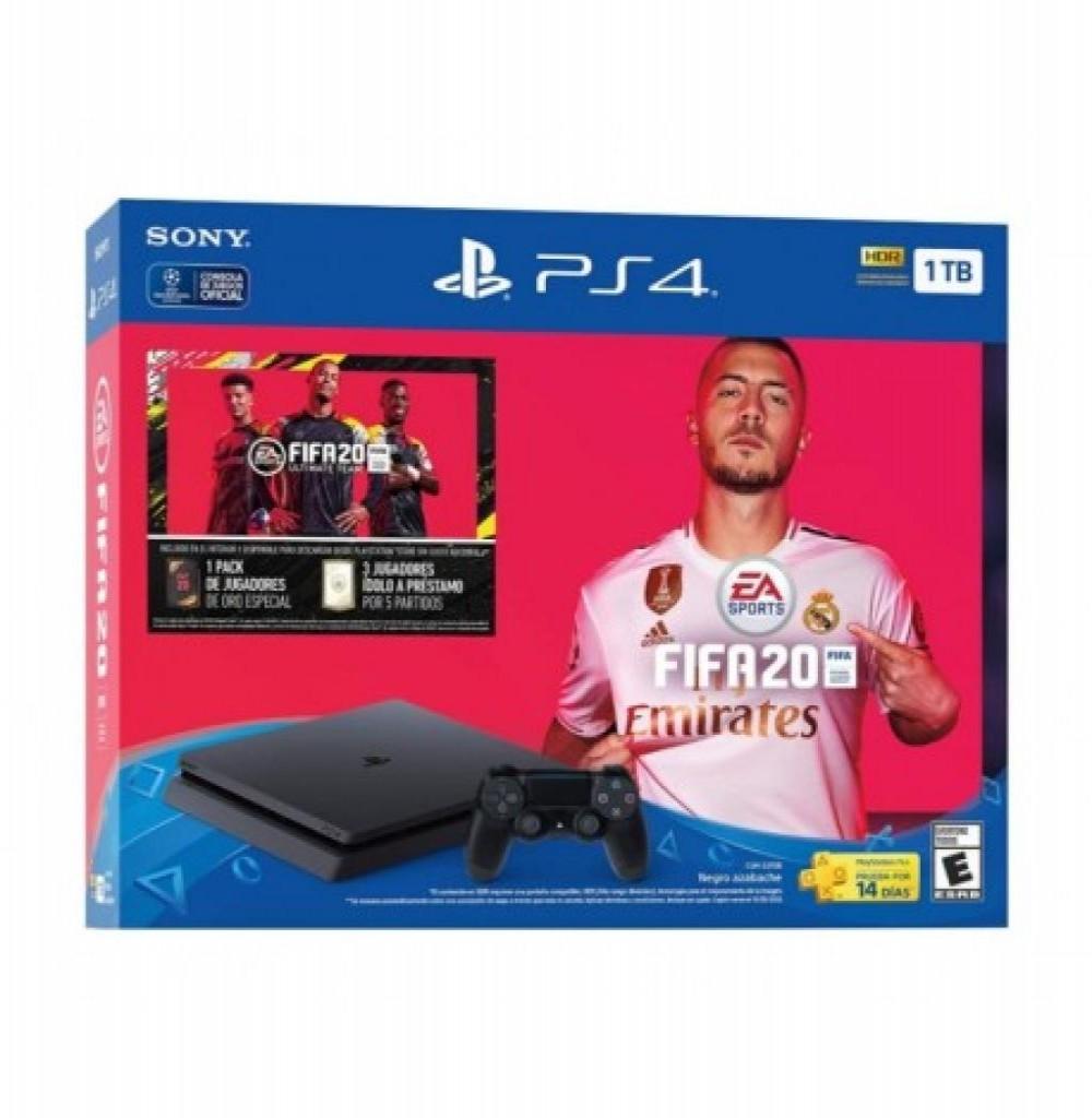 Console Sony Playstation 4 2215 - 1TB - Com Fifa 2020 - Preto