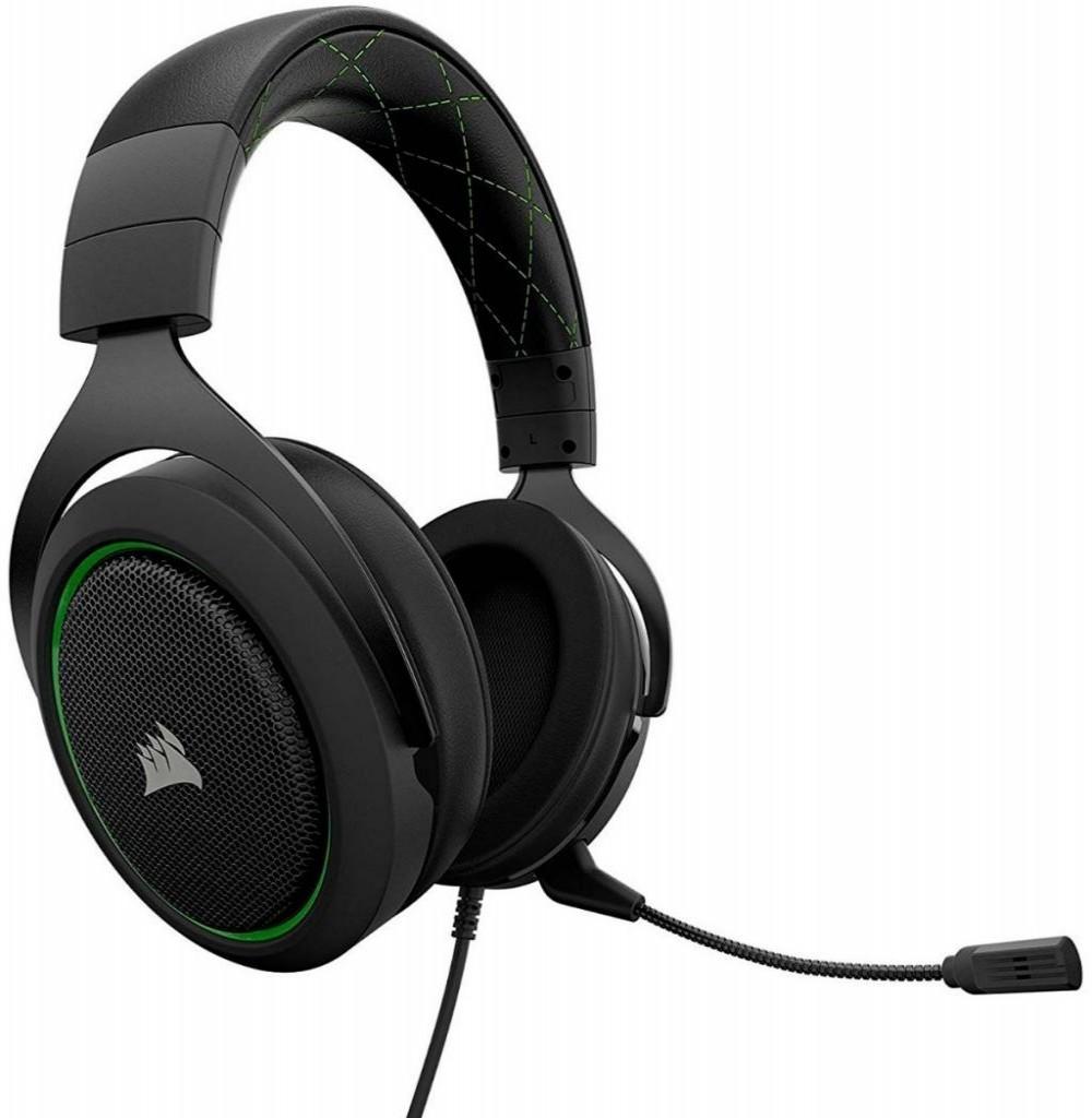 Headset Corsair para Jogos HS50 Stereo Gaming - Preto/Verde