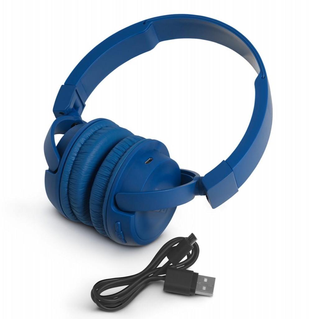 Fone de Ouvido Sem Fio JBL T450BT com Bluetooth/Microfone - Azul