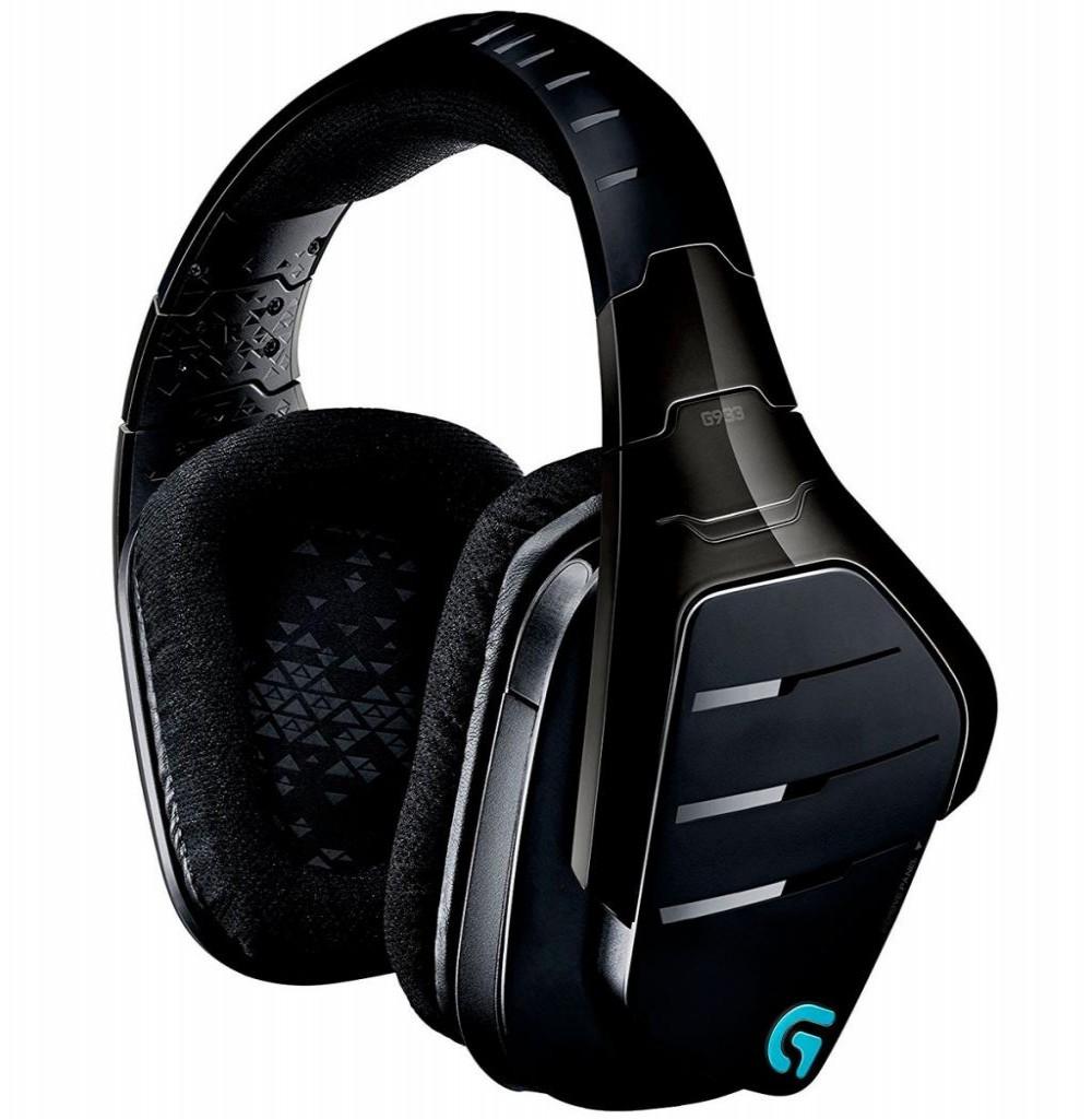 Headset Sem Fio Logitech G933 Artemis Spectrum com Luz LED - Preto