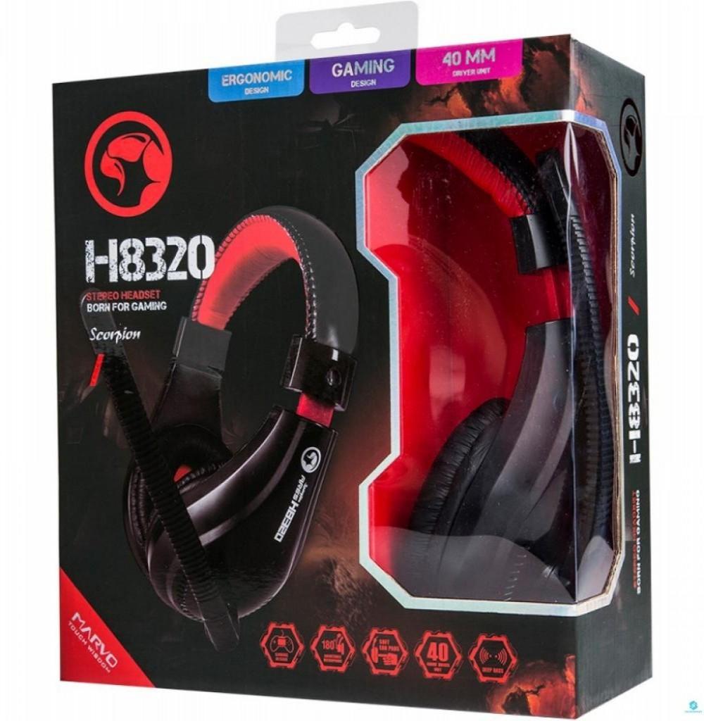 Headset para Jogos Marvo Scorpion H8320 Preto/Vermelho