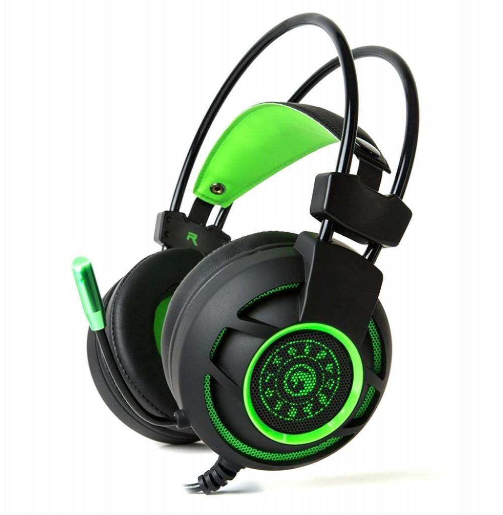 Headset para Jogos Marvo Scorpion HG9031 USB Verde/Preto