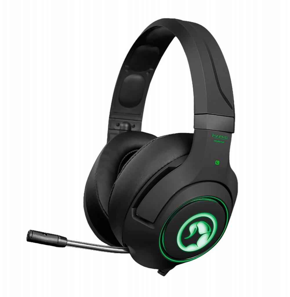Headset para Jogos Marvo Scorpion HG9032 Vermelho Preto