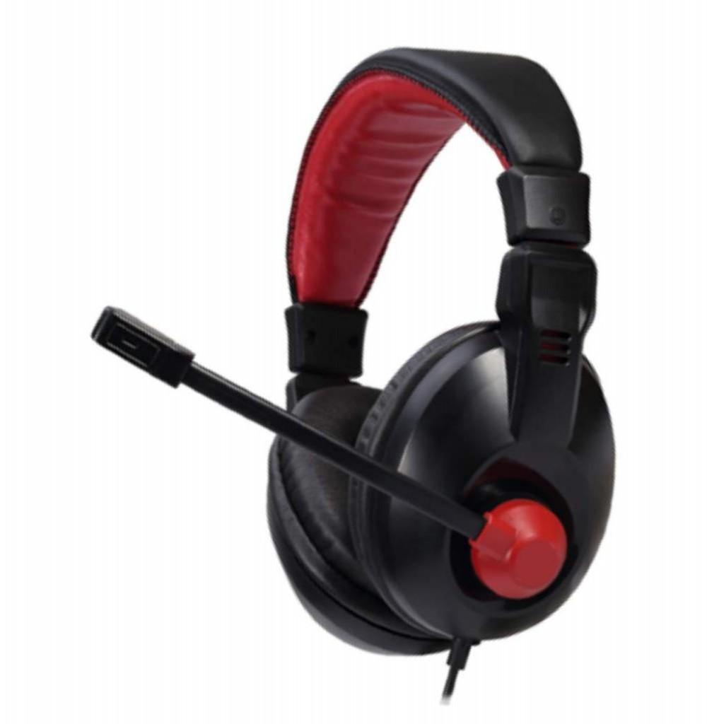 Headset Satellite AE-265 Gaming com Microfone - Preto/Vermelho