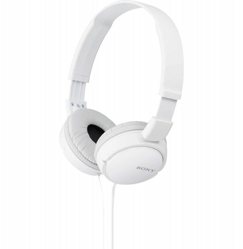 Fone de Ouvido Sony MDR-ZX110/WC com Protetores Giratorios - Branco