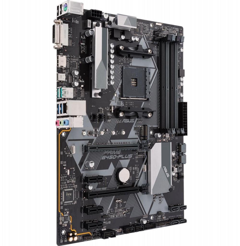 Placa Mãe Asus Prime B450-Plus AM4/4xDDR4/1xM.2/HDMI/DVI-D/SATA